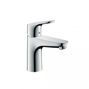 """Hansgrohe Focus Single lever basin mixer 100 with pop-up waste set, 1/2"""" nut, 2 Ticks"""