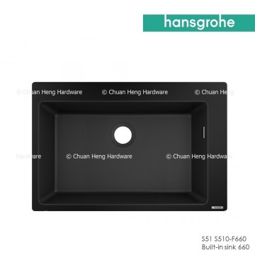 Hansgrohe 43313170 Built-in sink 660 (S510-F660 GS) - Graphite Black