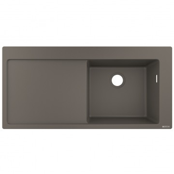 Hansgrohe 43314290 Built-in sink 450 with drainer (S514-F450 GS) - Stone Grey