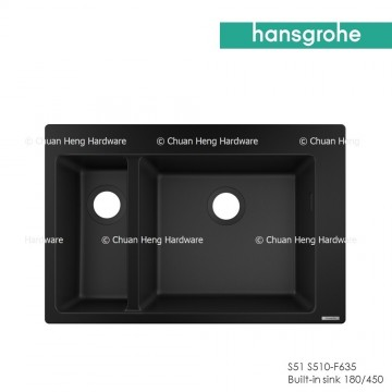 Hansgrohe 43315170 Built-in sink 180/450 (S510-F635 GS) - Graphite Black
