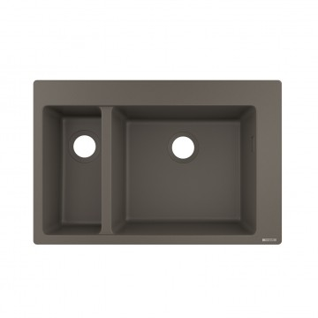 Hansgrohe 43315290 Built-in sink 180/450 (S510-F635 GS) - Stone Grey