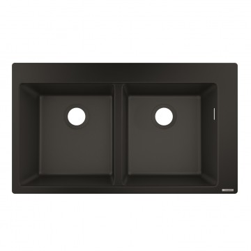 Hansgrohe 43316170 Built-in sink 370/370 (S510-F770 GS) - Graphite Black