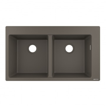 Hansgrohe 43316290 Built-in sink 370/370 (S510-F770 GS) - Stone Grey
