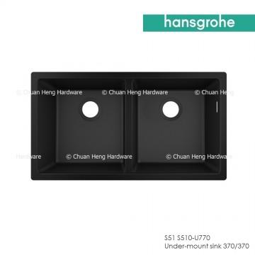Hansgrohe 43434170 Undermount sink 370/370 (S510-U770 GS) - Graphite Black