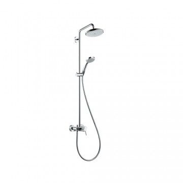Hansgrohe Croma Showerpipe 220 1jet with single lever mixer