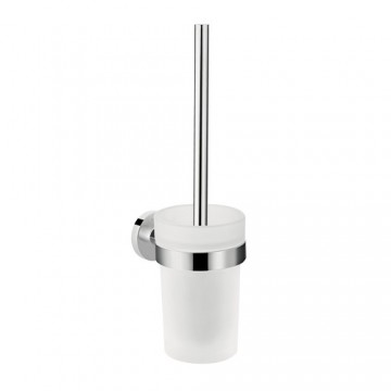 Hansgrohe Logic Universal Toilet brush with tumbler wall-mounted