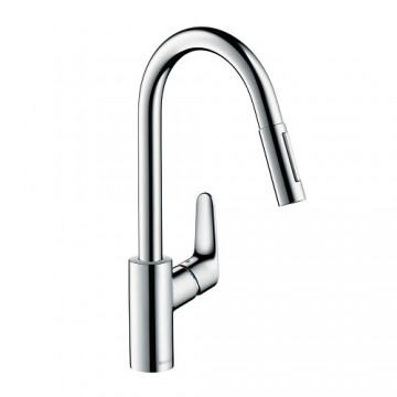 Hansgrohe Focus Single lever kitchen mixer 240 with pull-out spray