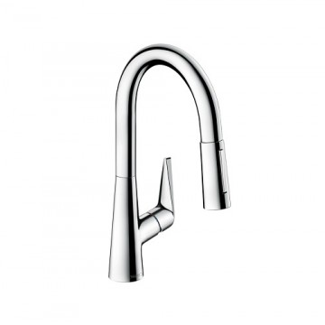 Hansgrohe Talis S Single lever kitchen mixer 160 with pull-out spray